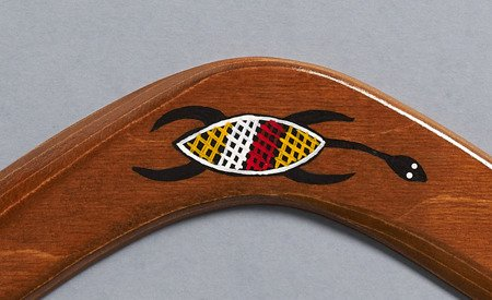 Banan Ethno Turtle decoreated returning wooden boomerang